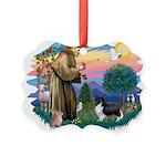 St.Francis #2 / Shetland Shee Picture Ornament