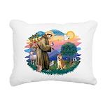 St Francis #2/ Shiba Inu Rectangular Canvas Pillow