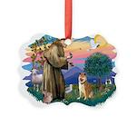 St Francis #2/ Shiba Inu Picture Ornament