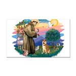 St Francis #2/ Shiba Inu Rectangle Car Magnet