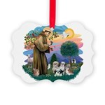 St.Francis #2/ Shih Tzus (4) Picture Ornament