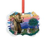 St.Francis #2/ Shih Tzu (#8) Picture Ornament