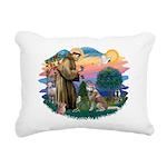 St Francis #2/ S Husky #2 Rectangular Canvas Pillo