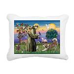 St Francis #2 / Red Husky Rectangular Canvas Pillo
