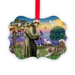 St Francis #2 / Red Husky Picture Ornament