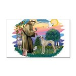 St Francis #2/ Sloughi Rectangle Car Magnet