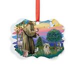 St.Francis #2/ Tibetan Spani Picture Ornament