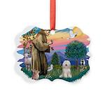 St.Fran#2/ Tibetan Terrier Picture Ornament