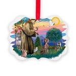 St.Francis #2 / Weimaraner Picture Ornament