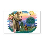St Francis #2/ Welsh Ter. Rectangle Car Magnet