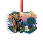 St Francis #2/ Westie Picture Ornament