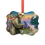 St. Fran #2 / Wheaten Terrier Picture Ornament