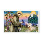 St. Fran #2 / Wheaten Terrier Rectangle Car Magnet