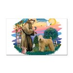 St Francis #2/ Wheaten Rectangle Car Magnet