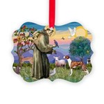 St Francis / Whippet Picture Ornament