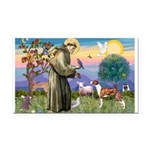 St Francis / Whippet Rectangle Car Magnet