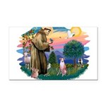 St Francis #2/ Whippet #7 Rectangle Car Magnet