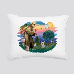 St Francis #2/ Yorkie #13 Rectangular Canvas Pillo