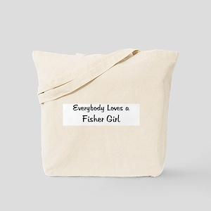 Fisher Girl Tote Bag