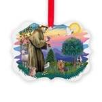 St Francis #2/ Yorkie #7 Picture Ornament