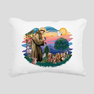 St.Francis #2/ Yorkies (4) Rectangular Canvas Pill
