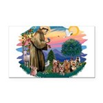 St.Francis #2/ Yorkies (4) Rectangle Car Magnet