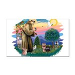 St.Francis #2/ Yorkie (#9) Rectangle Car Magnet