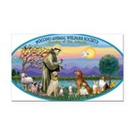 St Francis / dogs-cats Rectangle Car Magnet