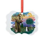 St. Fran (ff) - Black/white c Picture Ornament