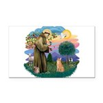 St. Fran (ff) - OrangeTabby Rectangle Car Magnet