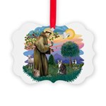 St. Fran (f)-Tabby/white cat Picture Ornament