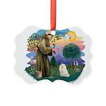 St. Fran (ff) - White Persian Picture Ornament