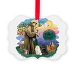 St. Fran (ff) - 3 Persian Cat Picture Ornament