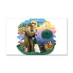 St. Fran (ff) - 3 Persian Cat Rectangle Car Magnet