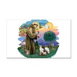 St. Fran (ff) - 3 Siamese Rectangle Car Magnet