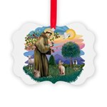St. Fran (ff) - Sphynx cat (f Picture Ornament