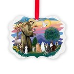 St Francis 2 - 7 Cats Picture Ornament