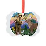 R-St Francis-ShetlandPONY Picture Ornament