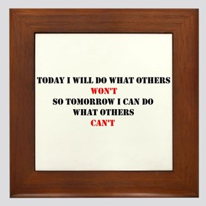 DO WHAT OTHERS CAN'T Framed Tile