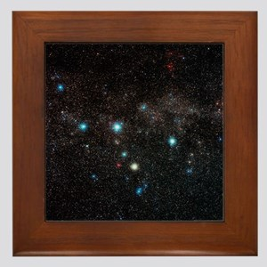 Cassiopeia constellation - Framed Tile