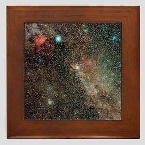Milky Way in Cygnus - Framed Tile