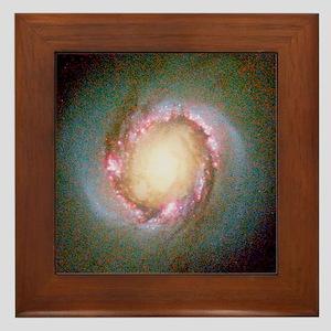 Star birth in galaxy NGC 4314 - Framed Tile