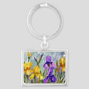 Bearded Iris Landscape Keychain