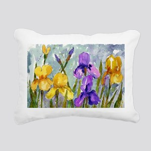Bearded Iris Rectangular Canvas Pillow