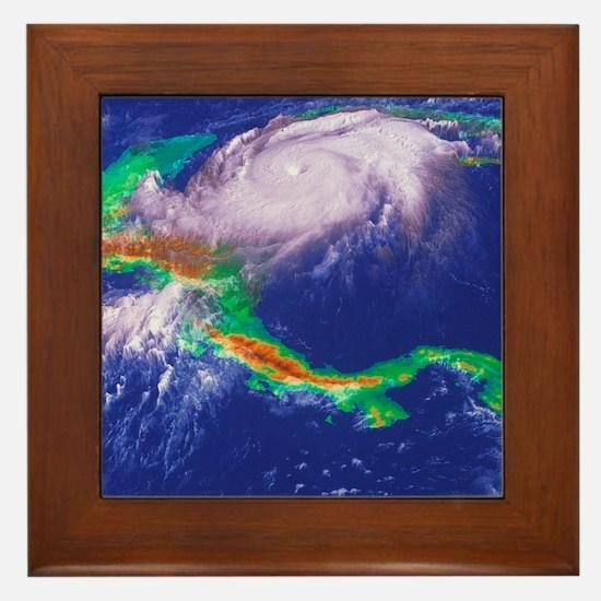 Hurricane Mitch - Framed Tile