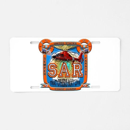 Cute Coast guard Aluminum License Plate