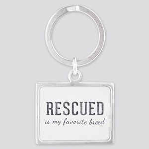 Rescued is Landscape Keychain