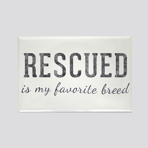 Rescued is Rectangle Magnet