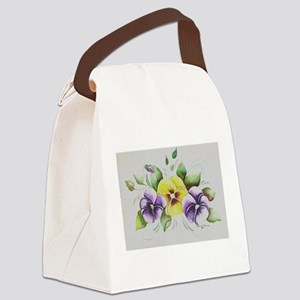 PANSIES Canvas Lunch Bag