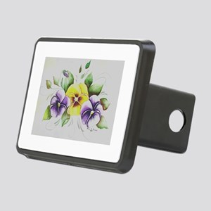 PANSIES Rectangular Hitch Cover